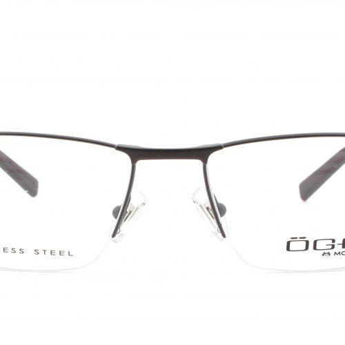 MOREL-Eyeglasses-10005 brown-men-eyeglasses-metal-rectangle