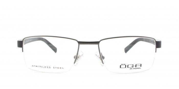 MOREL-Eyeglasses-10006 grey-men-eyeglasses-metal-rectangle