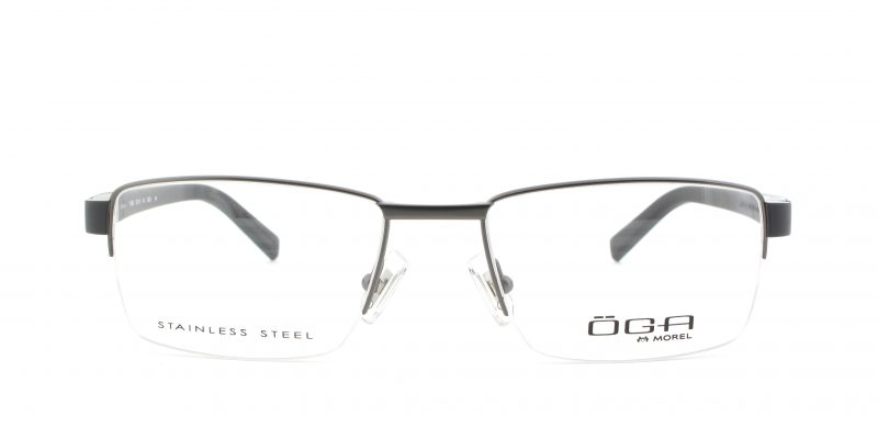 MOREL-Eyeglasses-10006 grey-men-eyeglasses-metal-rectangle