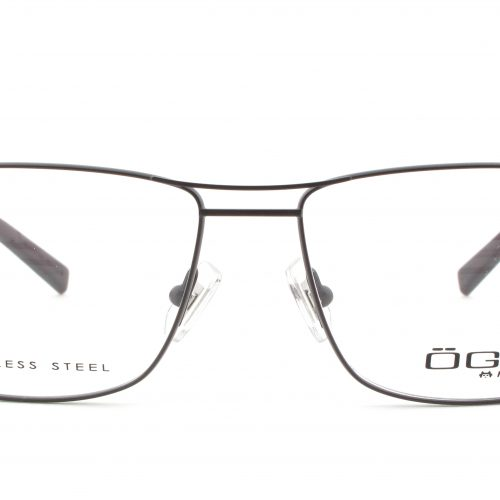 MOREL-Eyeglasses-10007 brown-men-eyeglasses-metal-rectangle