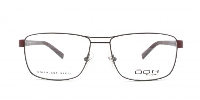 MOREL-Eyeglasses-10007 brown-men-eyeglasses-metal-rectangle