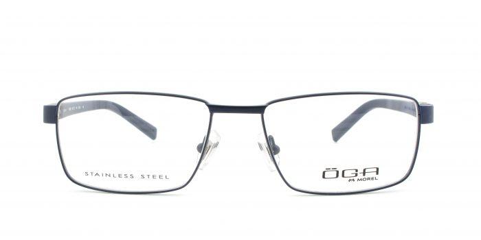 MOREL-Eyeglasses-10008 blue-men-eyeglasses-metal-rectangle