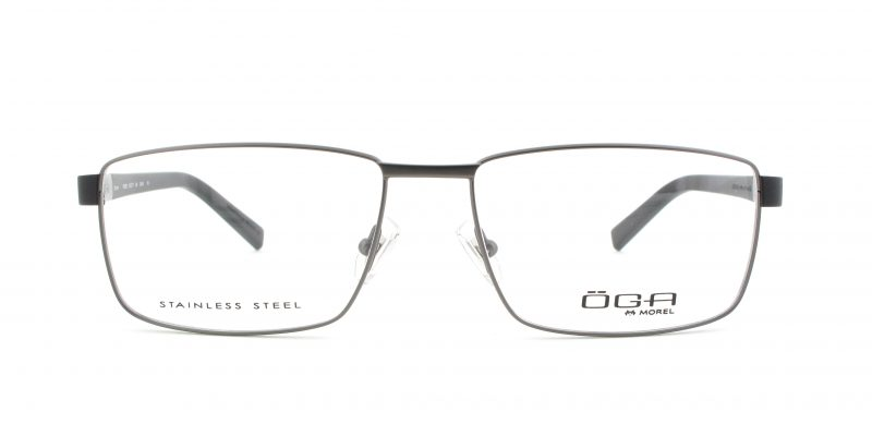 MOREL-Eyeglasses-10009 grey-men-eyeglasses-metal-rectangle