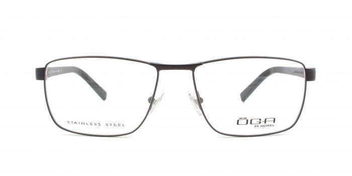MOREL-Eyeglasses-10010 brown-men-eyeglasses-metal-rectangle