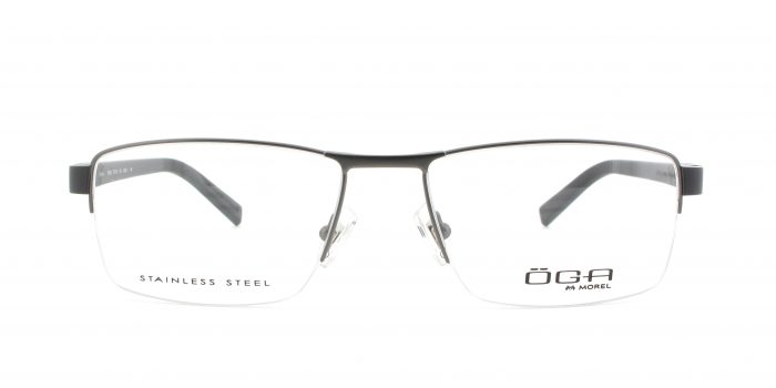 MOREL-Eyeglasses-10012 grey-men-eyeglasses-metal-rectangle