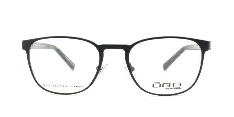 MOREL-Eyeglasses-10013 black-men-eyeglasses-metal-pantos