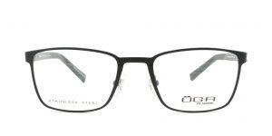 MOREL-Eyeglasses-10014 black-men-eyeglasses-metal-rectangle