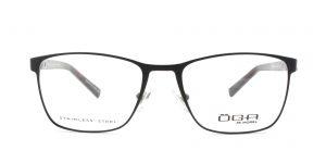 MOREL-Eyeglasses-10015 black-men-eyeglasses-metal-rectangle