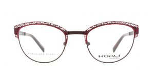 MOREL-Eyeglasses-20002 red-women-eyeglasses-metal-oval