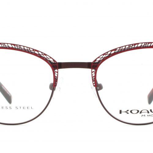 MOREL-Eyeglasses-20002 red-women-eyeglasses-metal-oval