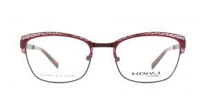 MOREL-Eyeglasses-20004 red-women-eyeglasses-metal-rectangle