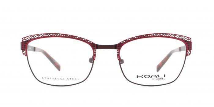 MOREL-Eyeglasses-20004 red-women-eyeglasses-metal-rectangle