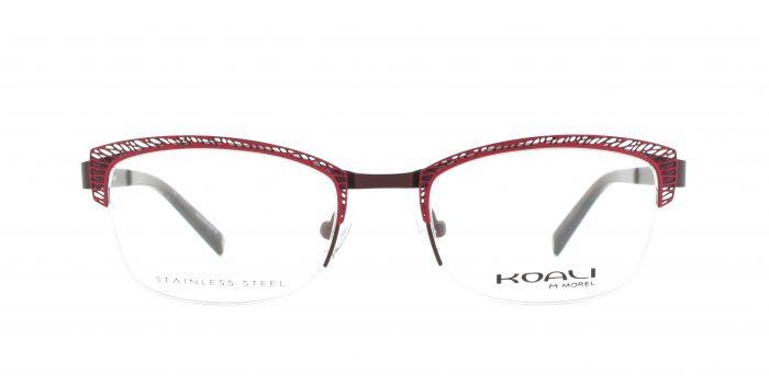 MOREL-Eyeglasses-20005 red-women-eyeglasses-metal-rectangle