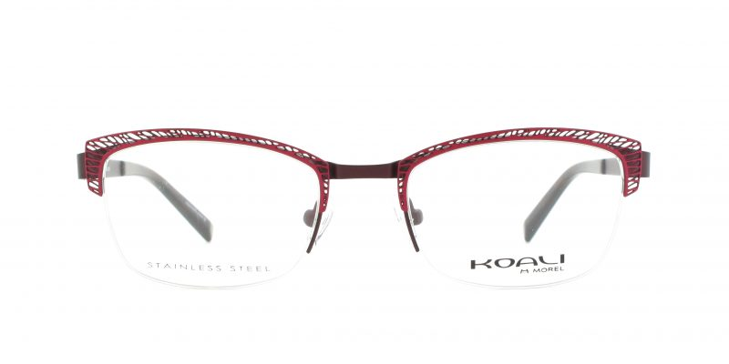 MOREL-Eyeglasses-20005 red-women-eyeglasses-metal-rectangle
