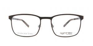 MOREL-Eyeglasses-30015 grey-men-eyeglasses-metal-rectangle