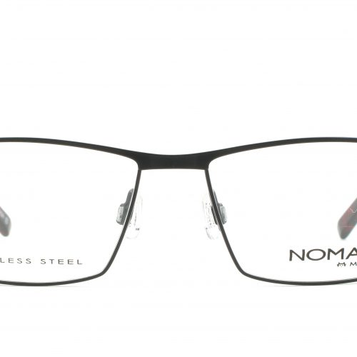 MOREL-Eyeglasses-40007 black-men-eyeglasses-metal-rectangle