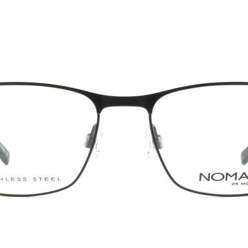 MOREL-Eyeglasses-40008 black-men-eyeglasses-metal-rectangle