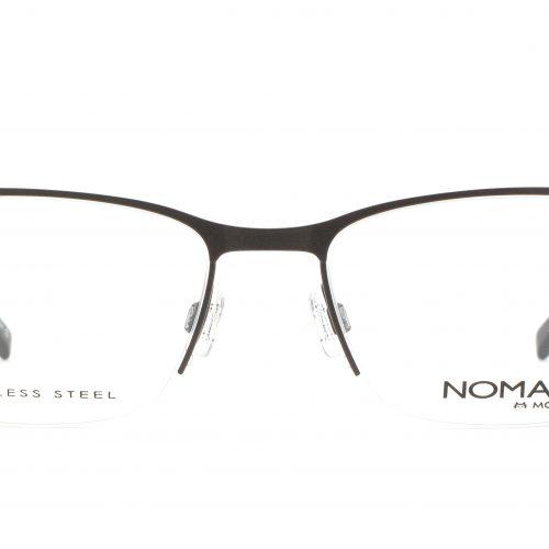 MOREL-Eyeglasses-40010 brown-men-eyeglasses-metal-rectangle