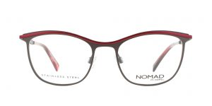 MOREL-Eyeglasses-40015 brown-women-eyeglasses-metal-rectangle