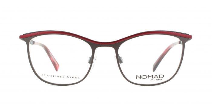 MOREL-Eyeglasses-40015 brown-women-eyeglasses-metal-rectangle