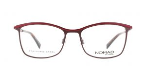 MOREL-Eyeglasses-40016 red-women-eyeglasses-metal-rectangle