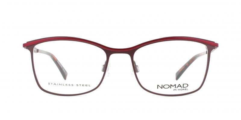MOREL-Eyeglasses-40016 red-women-eyeglasses-metal-rectangle