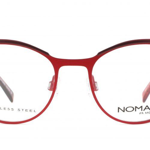 MOREL-Eyeglasses-40017 red-women-eyeglasses-metal-oval