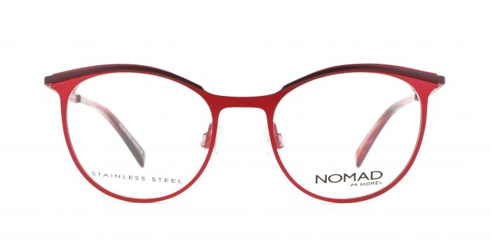MOREL-Eyeglasses-40017 red-women-eyeglasses-metal-oval