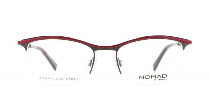 MOREL-Eyeglasses-40018 brown-women-eyeglasses-metal-rectangle