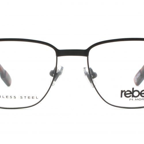 MOREL-Eyeglasses-70006 black-men-eyeglasses-metal-rectangle