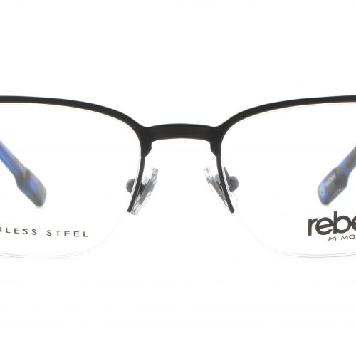 MOREL-Eyeglasses-70008 black-men-eyeglasses-metal-rectangle