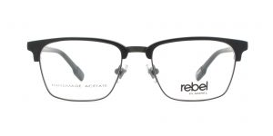 MOREL-Eyeglasses-70009 black-men-eyeglasses-mixed-rectangle