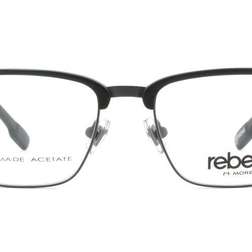 MOREL-Eyeglasses-70009 black-men-eyeglasses-mixed-rectangle