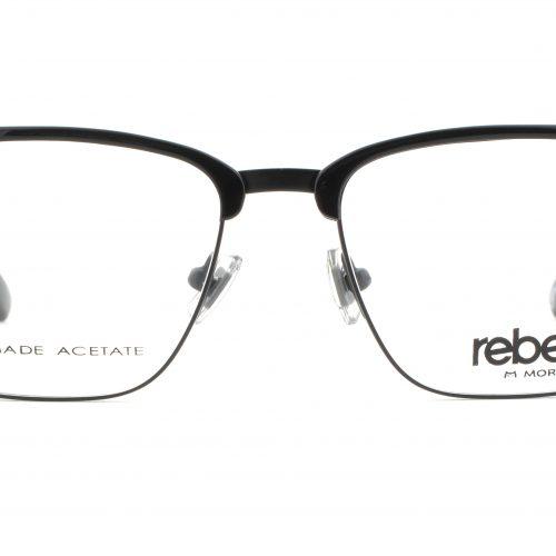 MOREL-Eyeglasses-70011 black-men-eyeglasses-mixed-rectangle