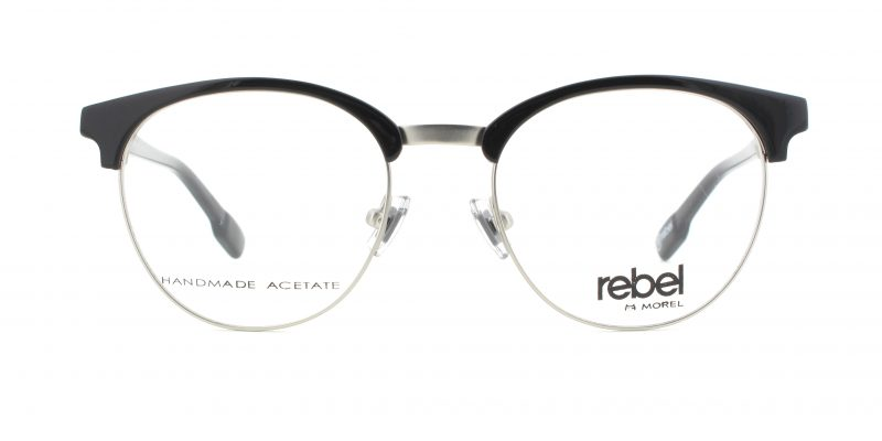 MOREL-Eyeglasses-70012 black-men-eyeglasses