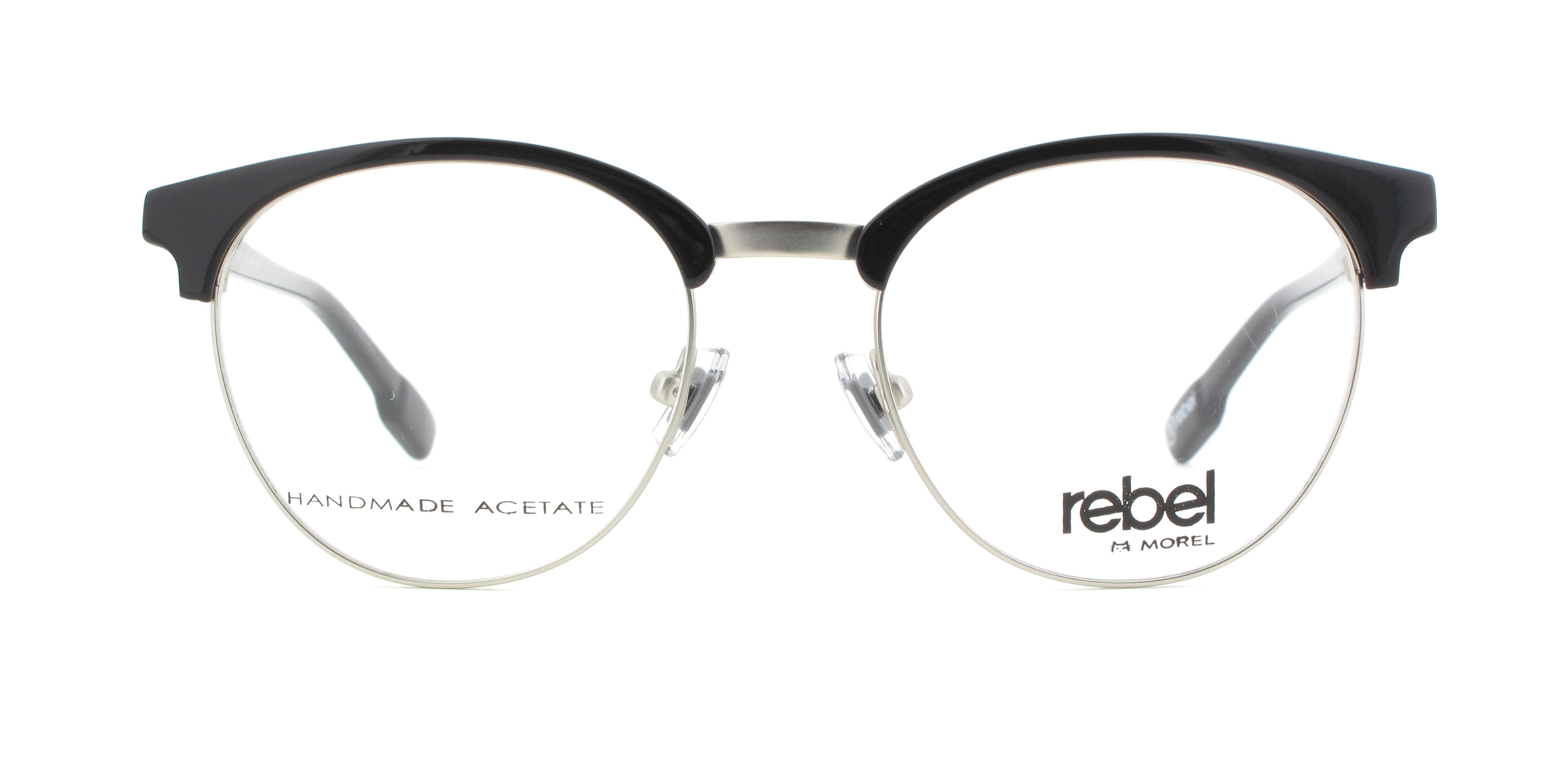 morel eyeglasses 70012 black men eyeglasses - Morel Frames