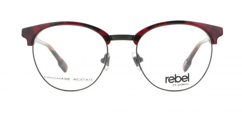 MOREL-Eyeglasses-70012 red-men-eyeglasses
