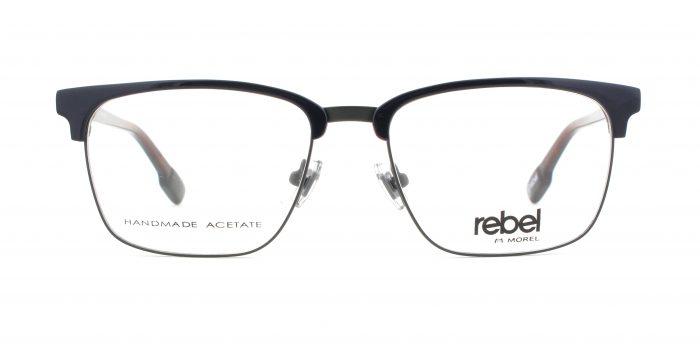 MOREL-Eyeglasses-70011 blue-men-eyeglasses-mixed-rectangle