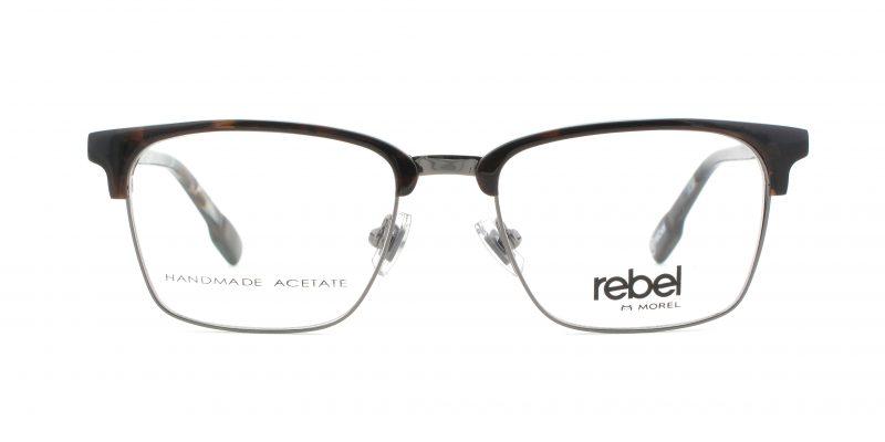 MOREL-Eyeglasses-70009 brown-men-eyeglasses-mixed-rectangle