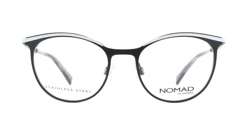 MOREL-Eyeglasses-40017 black-women-eyeglasses-metal-oval