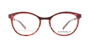 MOREL-Eyeglasses-20008 red-women-eyeglasses-mixed-oval