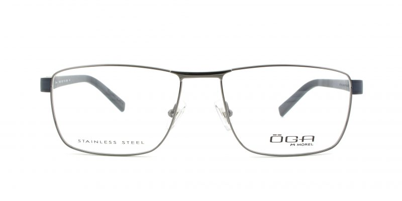 MOREL-Eyeglasses-10010 grey-men-eyeglasses-metal-rectangle