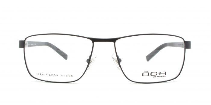 MOREL-Eyeglasses-10010 black-men-eyeglasses-metal-rectangle