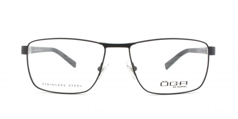 MOREL-Eyeglasses-10010 black-men-eyeglasses-metal-rectangle
