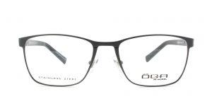 MOREL-Eyeglasses-10015 grey-men-eyeglasses-metal-rectangle