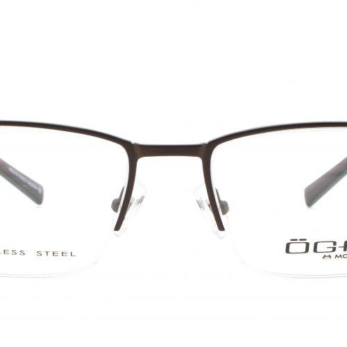 MOREL-Eyeglasses-10020 brown-men-eyeglasses-metal-rectangle