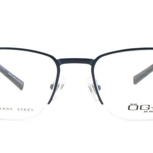 MOREL-Eyeglasses-10021 blue-men-eyeglasses-metal-rectangle
