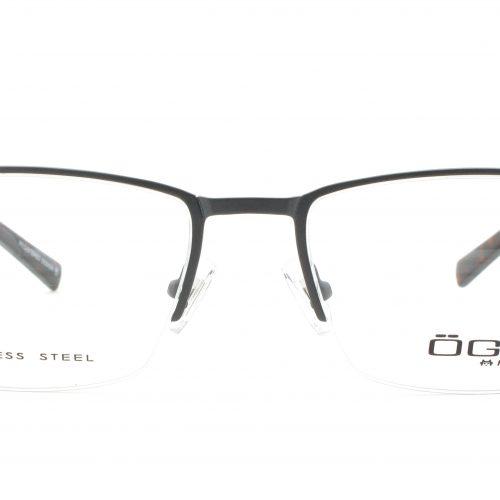 MOREL-Eyeglasses-10022 grey-men-eyeglasses-metal-rectangle