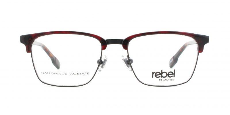 MOREL-Eyeglasses-70009 red-men-eyeglasses-mixed-rectangle