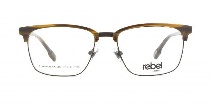 MOREL-Eyeglasses-70011 brown-men-eyeglasses-mixed-rectangle